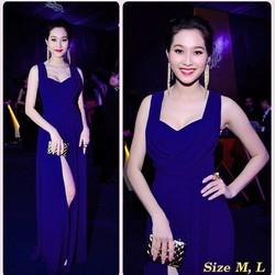 Đầm maxi xanh giống hoa hậu thu thảo D820