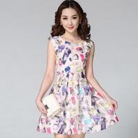 Đầm Xòe Đủ Size: Voan Kiếng Nước Hoa Cao Cấp