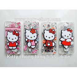 Ốp Kitty chống lưng iPhone 5 5S
