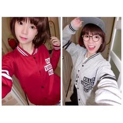 Shop Cún-Sale Off-Áo Khoác Sọc Tay Style Hàn Quốc