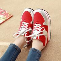 Giày bata bánh mì phối màu ánh kim