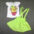 Bộ áo váy mèo xinh xanh lá BH334