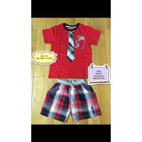 Bộ thun cotton phối quần kaki thời trang cho bé trai