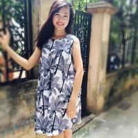 Đầm xuông A cây dừa