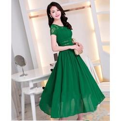 Đầm Maxi Phối Ren Cao Cấp _ HR397