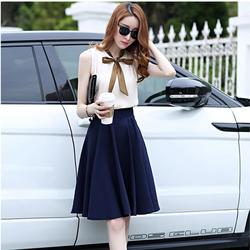 Set áo thăt nơ- chân váy vintaga-TH08368