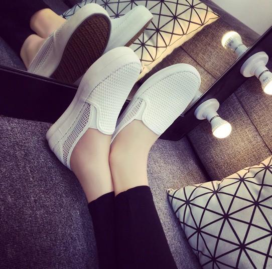 Giày slip on lưới màu trắng – MS: G810-T 10