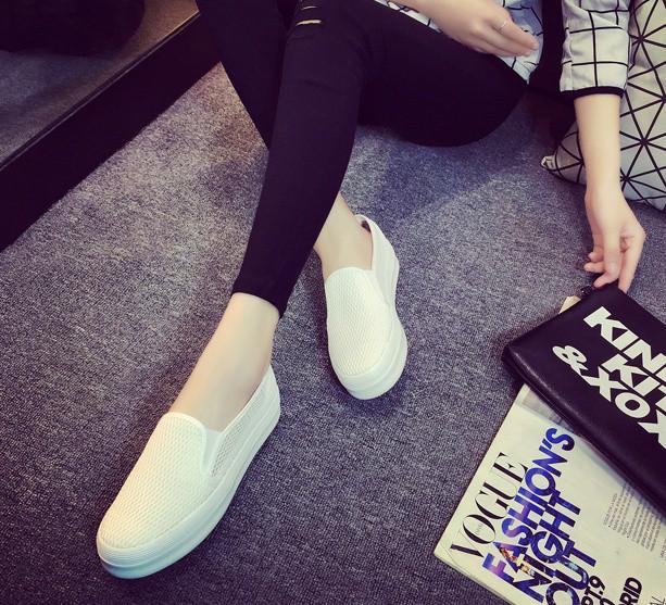 Giày slip on lưới màu trắng – MS: G810-T 8