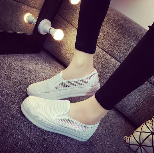 Giày slip on lưới màu trắng – MS: G810-T 1