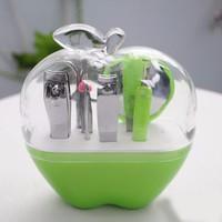 Bộ dụng cụ làm móng đa năng 9 món quả táo - Xanh lá