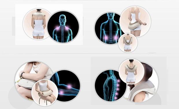 Máy massage đấm lưng vai cổ Shachu SH-889 Hàn Quốc 2