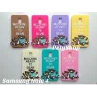 Ốp lưng hình gấu Moschino Samsung Note 4