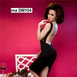 Đầm body xẻ lưng phối ren tuyệt đẹp DM104