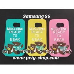 Ốp lưng hình gấu Moschino Samsung S6