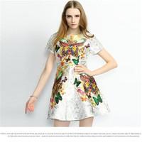 Đầm thời trang cao cấp họa tiết hoa bướm XY849