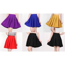 Chân váy xếp ply trẻ trung, nhiều màu, nữ tính