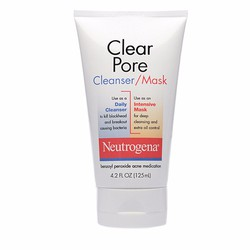 Sữa rửa mặt và mặt nạ 2 trong 1 Neutrogena Clear Pore Cleanser Mask