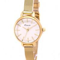 Đồng hồ nữ KIMIIO - KI046 vàng, hoàn hảo từng chi tiết