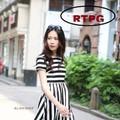 Đầm sọc xòe Hàn quốc TH08410