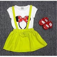 Bộ áo váy Mickey xanh lá XN098