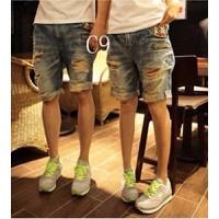 Quần jeans lửng rách defining Mã: NL0352