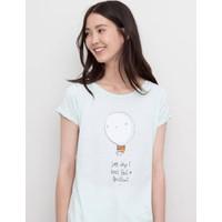 Áo phông nữ hoạ tiết hãng Pull and Bear - hàng nhập Tây Ban Nha