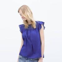 Áo phông nữ phối ren hãng Zara - hàng nhập Tây Ban Nha