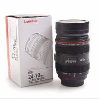 Ly Nước Hình Ống Kính Lõi INOX USA Store Canon Lens 4 400ml