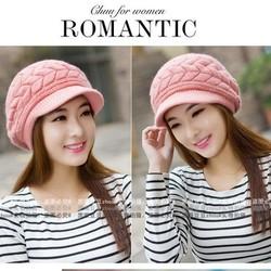 nón mũ len dệt kim cao cấp thời trang thu đông mới