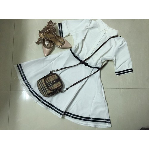 Đầm somi xòe viền kute sale