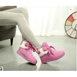 GB3 - Giày boots lông hồng tiểu thư