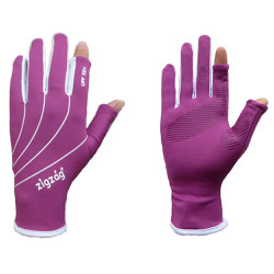 zigzag GLV00806- Găng tay easy touch chống nắng UPF50+ tím