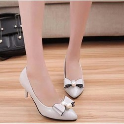 F3979.com- Giày cao gót công sở đính ngọc trai C029X