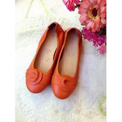 Giày búp bê nữ  da thật thời trang - hàng vnxk