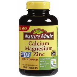 Calcium Magie và kẽm 300viên. Nature Made - Bổ sung CANXI cho xương