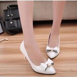 F3979.com- Giày cao gót công sở đính ngọc trai C029T