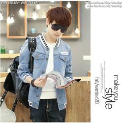 Áo khoác bóng chày vải Jeans cá tính -  Mã số: AK1501