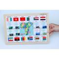 Đồ chơi gỗ xếp hình nhận biết cờ các nước Châu Phi