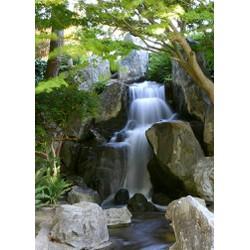 Tranh dán tường phong thủy thác nước WT-0012