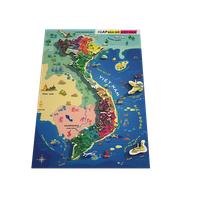 Đồ Chơi Gỗ bản đồ Việt Nam và biển đảo kích thước khổ A3