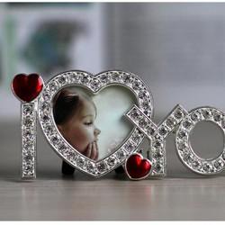 Khung ảnh đính đá I Love You