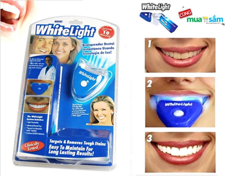 Dụng cụ làm trắng răng an toàn White light 2