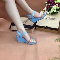 Hàng công ty - Sandal 7 màu đế xuồng thời trang