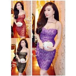 Đầm cúp ngực ánh kim đan xích giống bella VD211
