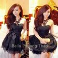 Đầm ren hoa cúp ngực - có lót , kèm nịt - Belle