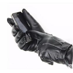 Sỉ lẻ Găng tay cảm ứng màn hình da lót lông  chống nước nhẹ