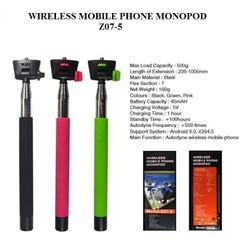 Gậy Chụp Hình Tự Sướng Monopod Z07-5 có Wireless, nút bấm