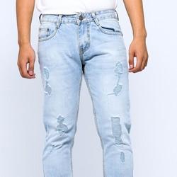 Quần Jeans bạc wash rách J48