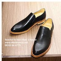 giày offord nam - giày đế gỗ