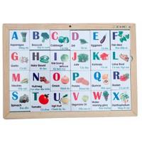 Đồ chơi gỗ xếp hình các chữ cái chủ đề rau củ